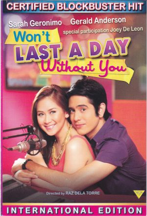 Won't Last A Day Without You -- DVD
